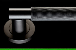 Deep dive into the matte black Varese knurled lever by Carlisle Brass